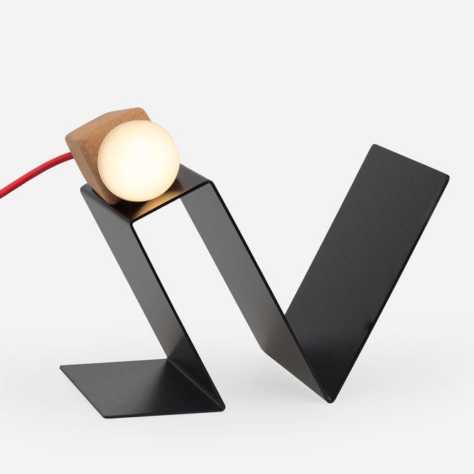 Glint lamp #3 black/red - galula