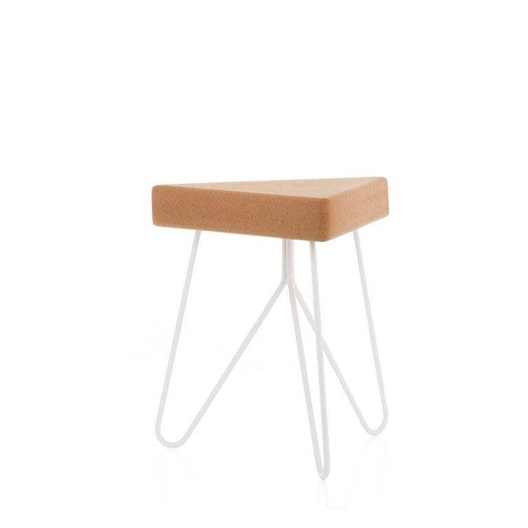 Tres stool table white   -  galula