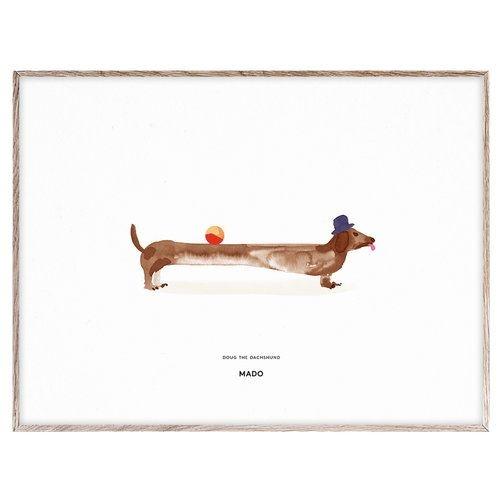 Doug the dachshund / 30x40cm   -   mado