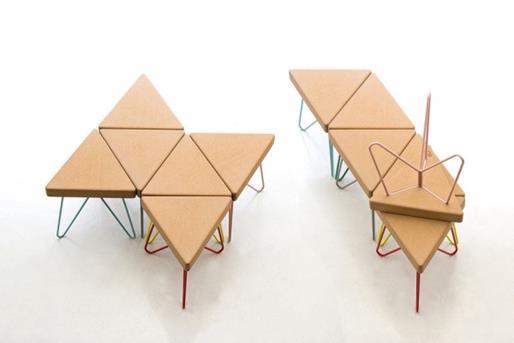 Tres stool table white   -  galula
