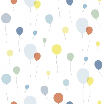 WALLPAPER MULTICOLOURED BALLOONS   -   Lilipinso