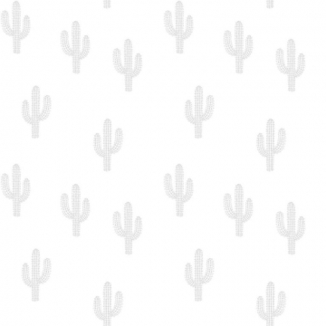 WALLPAPER CACTUS GREY   -   Lilipinso