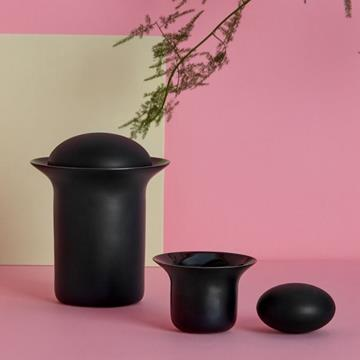 STONE TEA POT BLACK  -  Zens