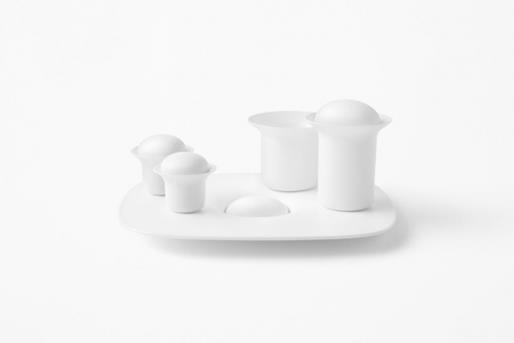 Stone serving cup white  -  zens