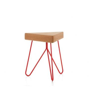 TRES STOOL TABLE RED  -  Galula
