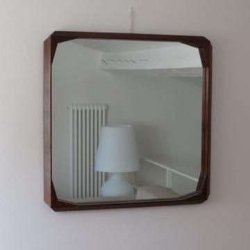 Specchio Vintage in Legno  - Italia anni '50