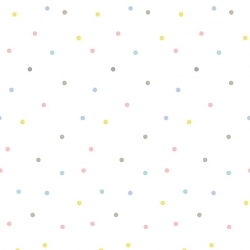 WALLPAPER POLKA DOTS MULTICOLOURED    -   Lilipinso