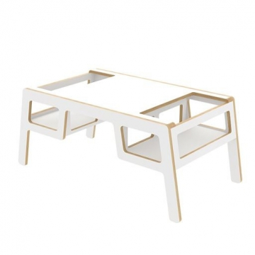 DOUBLE FLEX TABLE WHITE    -   Nuki