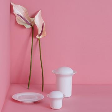 Stone tea pot white  -  zens